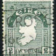 Stamp by Ireland - Stock Photo