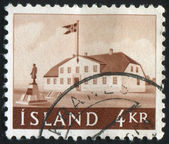 Stamp printed by Iceland — Stock Photo