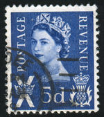 Stamp printed by Great Britain — Stock Photo
