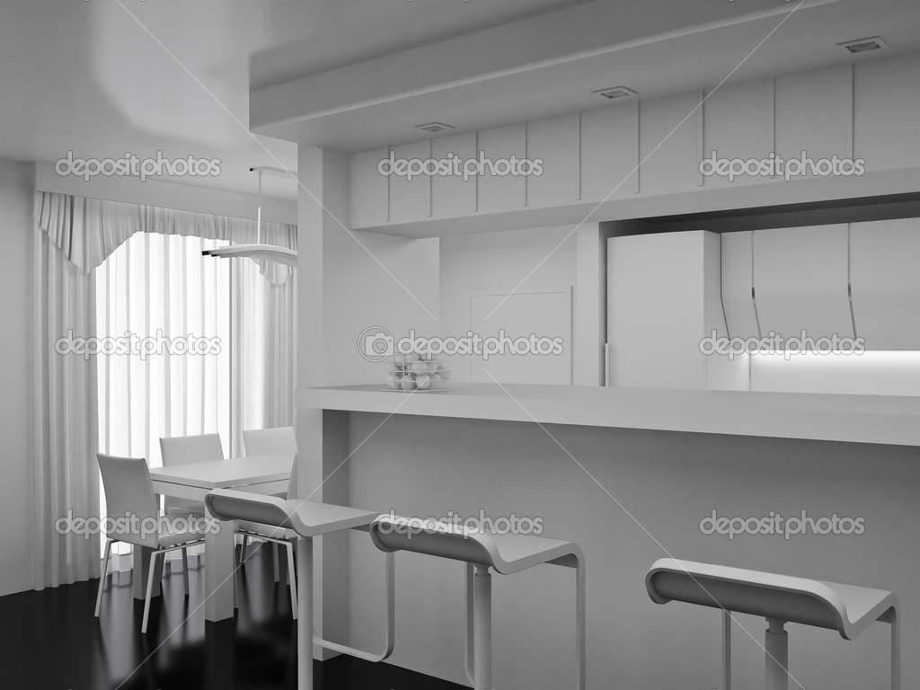 Interior of the modern room. High resolution image. 3d rendered illustration. — Stock Photo #4736177