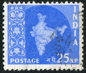 Stamp printed by India — Stock Photo