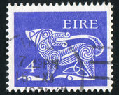 Stamp printed by Ireland — Stock Photo