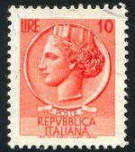 Stamp printed by Italy — Stock Photo
