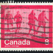 Stamp printed by Canada - Stock Photo