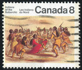 Stamp printed by Canada — ストック写真