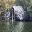 Stock Photo: Old fishing shack
