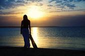 Admiration du coucher du soleil — Photo