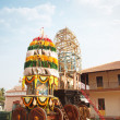 Holly chariot in the Indian temple -  