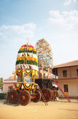 Holly chariot in the Indian temple — Stock Photo