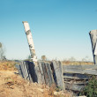 Old rural fence - Stockfoto