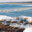 Frozen sea and stone seashore — Stock Photo #2807259