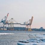 Cranes in a seaport — Stock Photo #2807268