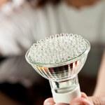 Led light bulb in hand — Stock Photo #3773709