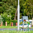 Speed camera at the side of the road - Stock Photo