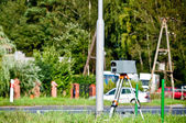 Speed camera at the side of the road — Stockfoto