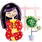 Japanese girl — Stock Vector #3730690