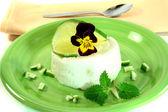 Lemon mousse — Stock Photo