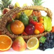 Stock Photo: Fruit mix in basket