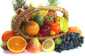 Fruit mix in the basket — Stock Photo