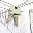 Stock Photo: Self Storage Units with keys