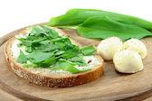 Wild Garlic Bread — Stock Photo