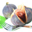 Figs with Serrano ham — Stock Photo
