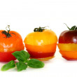 Royalty-Free Stock Photo: Layers of multicolored tomatoes