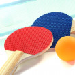 Stock Photo: Table tennis racket