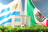 World Cup 2010 Uruguay vs Mexico — Stock Photo