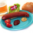Danish sausage — Stock Photo