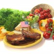 American Spareribs - Stock Photo