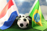 2010 World Cup, Netherlands and Brazil — Stock Photo