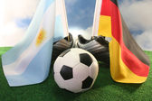 2010 World Cup, Argentina and Germany — Stock Photo