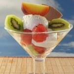 Fruit sundae — Stock Photo