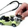 Stethoscope with car - Stock Photo