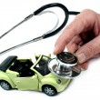 Stock Photo: Stethoscope with car