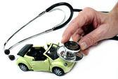 Estetoscopio con coche — Foto de Stock
