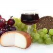 Cheese and red wine — Stock Photo #2900496