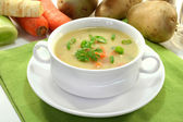 Cream of potato soup — Stock Photo