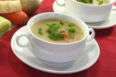 Cream of potato soup — Stock Photo