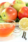 Apple Vanilla Lemon Tea — Stock Photo