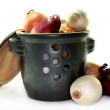 Onion Pot - Stock Photo