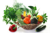 Vegetable basket — Stock Photo