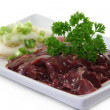 Raw liver - Stock Photo