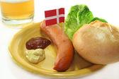 Danish sausage — Stock Photo