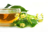 Linden flower tea — Stock Photo