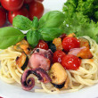 Pasta with seafood — Stock Photo #3392604
