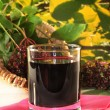 Stock Photo: Elderberry juice