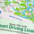 Driving Licence on Map — Stock Photo #3382165