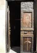Door to the church — Stock Photo
